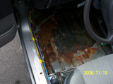 Body Work Required: Rust Repair, Drivers Side Rocker Panel and Floor Pan - Wide View